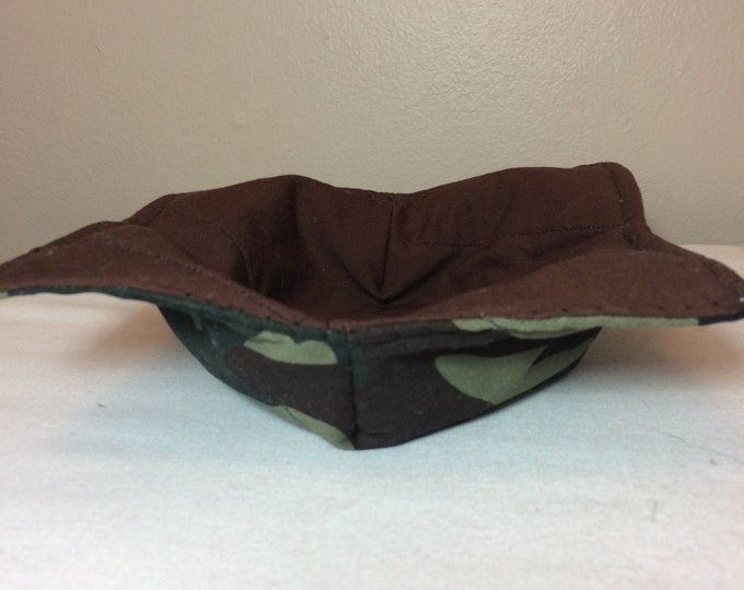 Microwave bowl cozy, Camo bowl cozy, Boy bowl cozy, Boy gift, Hot pad, Microwave hot pad
