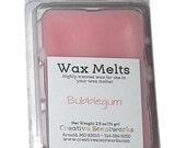 CLEARANCE Bubblegum Scented Wax Melts, Wax Cubes, Wax Tart, Wickless Candle, Melting Wax, Wax Melt