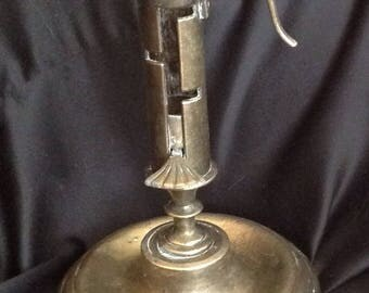 Brass Candle Holder with Push Up Lever