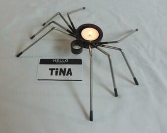 Steel Spider Tea Light Candle Holder - Tina