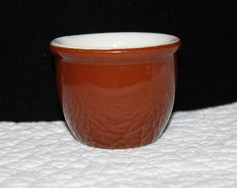 B8 Hall Made In USA 351 1/2 China Custard Cups Glazed Stoneware Pottery