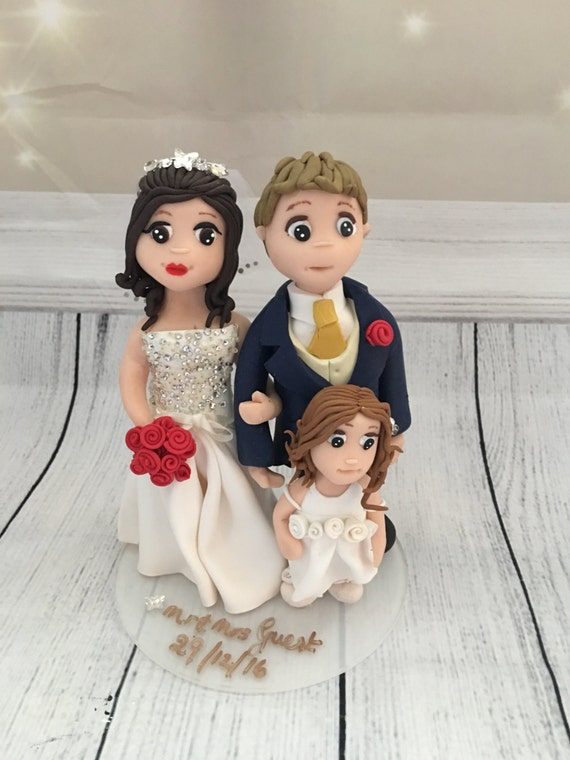 Family Themed Wedding Cake Topper - Keepsake