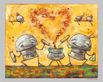 LOVE POTION - Fun Love Robot Print
