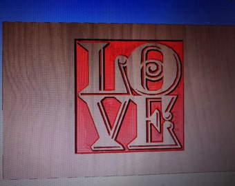 Custom made love sign!