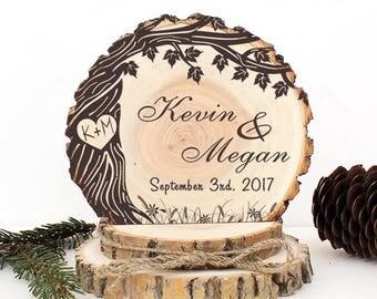 Rustic Wedding Cake Topper. Old Maple Tree Cake Topper. Rustic Wood Cake Topper. Rustic Cake Topper. Rustic Wedding