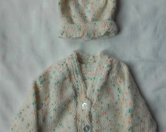 St Patrick day sweater,  st Patrick day hat, newborn baby sweater, ready to ship