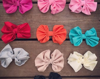Messy bow/headband/girls/infant/toddler/multiple colors/hair/accessories