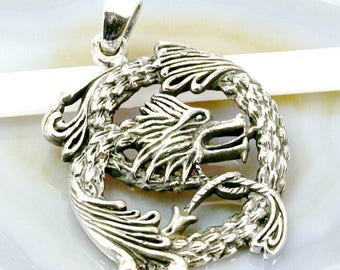 Dragon pendant 925 sterling silver - Dragon, charm 925 sterling silver - 6128