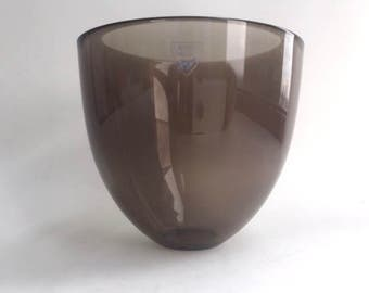 Swedish Orrefors Blown Smoke Glass Bowl