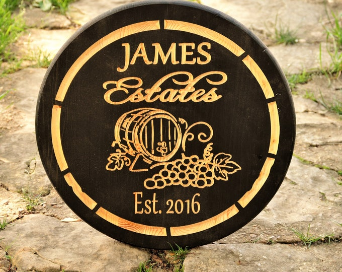 Wedding Gifts for Couple Wedding Shower Gifts Father Gifts for Dad Gifts for Husband Wine Gifts Personalized Wine Cellar Sign Wood Man Cave