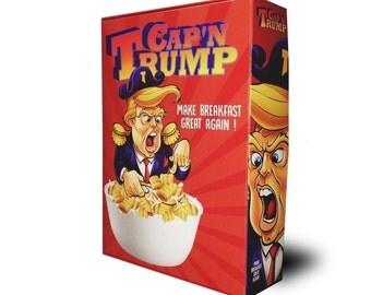 Cap'n Trump Cereal | Donald Trump Election 2016 Collectible Cereal Box * Hilary Clinton, Democrats nor Republicans have endorsed this*