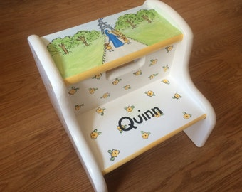 madeline step stool, hand painted chid's step stool, personalized kids step stools