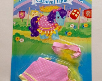 My Little Pony G1 VHTF UK Exclusive Moc Pony Wear Carnival Time Outfit!