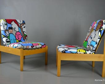 Pair Ercol Armchairs