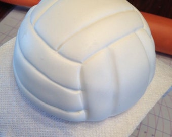 4- inch Fondant Volleyball Cake Topper