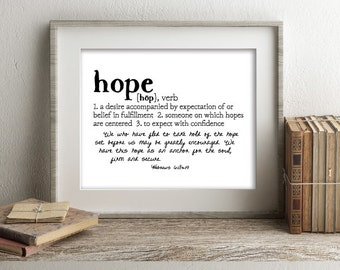 HOPE Defined Series Printable Art, Hebrews 6:18-19, Definition Print, Affordable Home Decor, Scripture, Typography, Minimalist Art