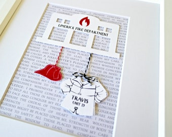 Unique Christmas Gift For Firefighter, Gift For Fireman, Firefighter Present, Firefighter Gift For Him, New FireFighter, Firefighter Decor