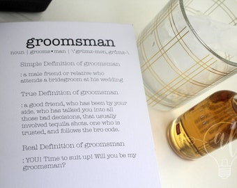 Funny Groomsmen Proposal - will you be my groomsman card - groomsman proposal - funny bridal cards - funny groomsmen - wedding party card