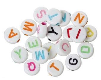 Alphabet beads 50 PCs mix
