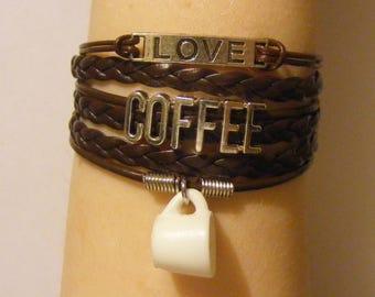 Coffee bracelet, coffee jewelry, mug bracelet, mug jewelry, love coffee bracelet, love coffee jewelry, fashion bracelet, fashion jewelry