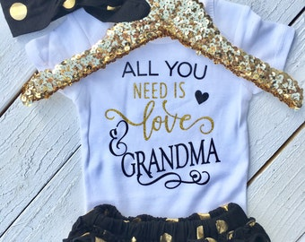 Grandma's Girl | Baby gift | granddaughter | love| baby headband | girl outfit | toddler shirts | Baby shower gift | Baby gifts