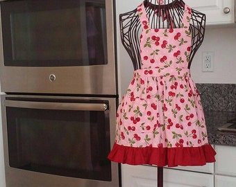 Girls cherry apron