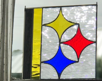 Stained Glass Steelers Panel