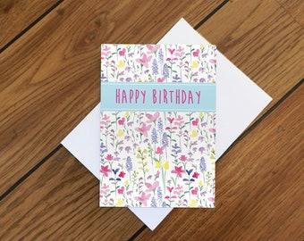 Summer Meadow Birthday Card