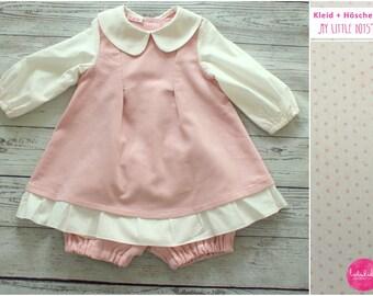Baby girls set dress pants cord pink dots dress baby dresses cotton dress girls dress long sleeve dress corduroy
