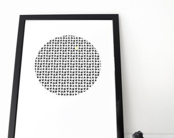 Starry Moon poster (ecological, organic)