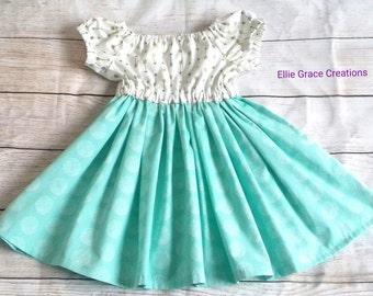 Handmade Girls Dress, Party Dress, Holiday Dress, Summer Dress. Age 2 Years