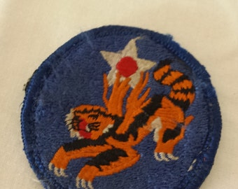 Vintage military patches - Flying Tiger and Army Service Forces