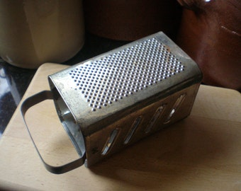 Vintage Metal Kitchen Grater Food Grater Box Shape Rustic Kitchen Decor Vintage Kitchenalia