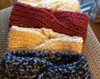 Hand knit headbands, Chunky, Wide, Warm, Fashionable