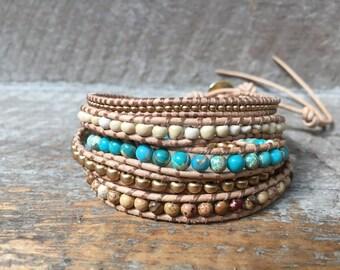 Calliope Beaded Wrap Bracelet