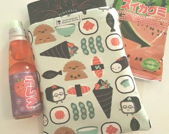 Kawaii Sushi Reversible Book Sleeve