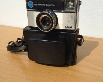 Camera vintage KODAK Instamatic 255 X Camera + Vintage Leather case