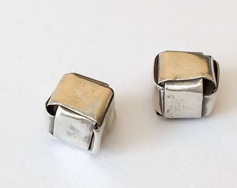 Hill Tribe Silver Beads 6mm Cube 2pc