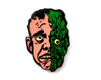 Melting Man Hard Enamel Pin, Horror, Topstone Mask Tribute, Lapel Pin, Jewelry, Art, Gift