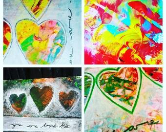 Custom creation - 'You are loved' original artwork