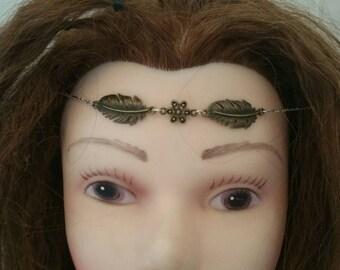Hippie boho feather flower tiara cirlcet head jewelry