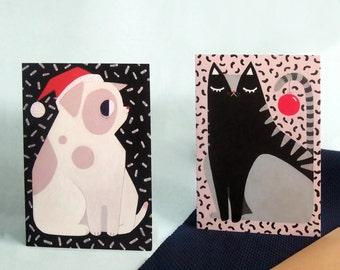 Cute Christmas duo (card)