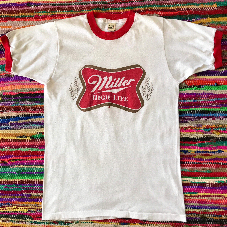 Vintage Miller Beer T Shirt Vintage Tees Ringer T Shirt