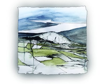 WINTRY SLIEVENAMON - mountain situated north-west of Carrick on Suir Co Tipperary Ireland