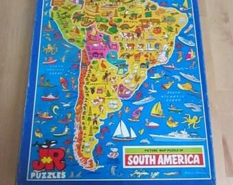 Vintage JR Puzzles picture jigsaw puzzle: South America