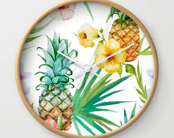 pineapple wall clock | etsy