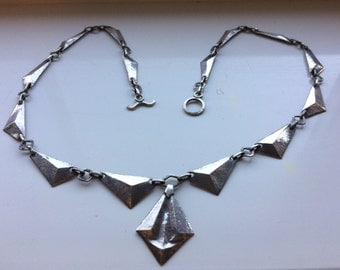 Stunning Art Deco Silver Necklace
