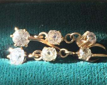 ANTIQUE DIAMOND Pendant EARRINGS