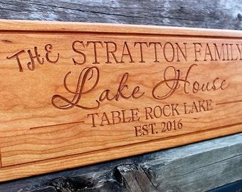Custom lake house sign-lake signs-lake house decor-personalized lake house signs-CARVED lake sign-lake cabin-cottage sign-custom beach sign