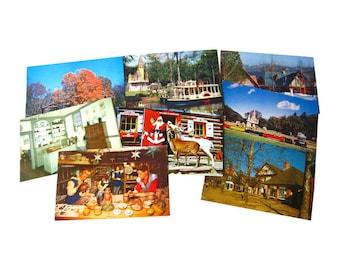 Santa Land Photograph Postcard Lot - Vintage Postcards - Vintage Ephemera - Souvenir Post Cards - Old Postcards - Collectible Postcard